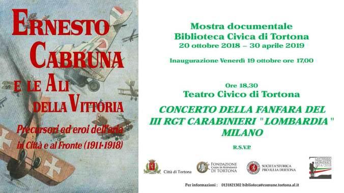 Presentazione della mostra Ernesto Cabruna e le ali della vittoria a Tortona
