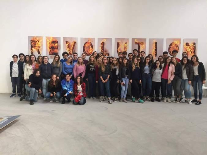 Mostra il sesto stato a Tortona - Foto di gruppo Liceo Peano