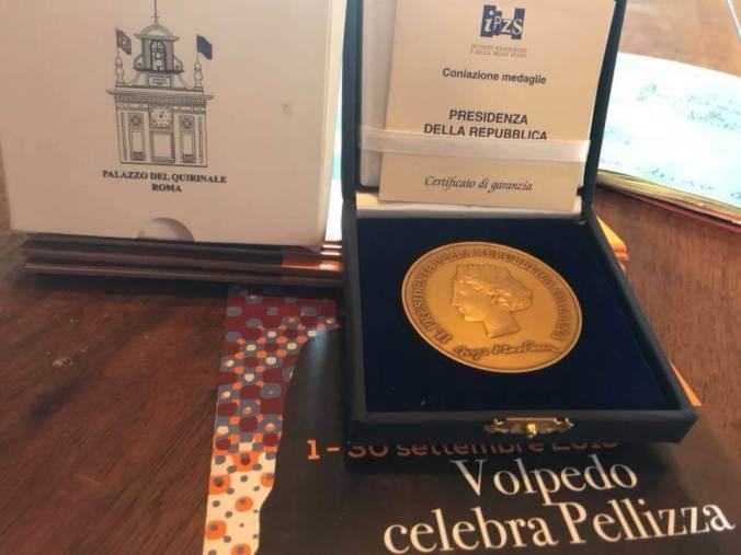 La medaglia d'oro del presidente della Repubblica Sergio Mattarella a Volpedo