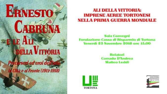 Locandina dell'evento Ali della vittoria: imprese aeree tortonesi nella prima guerra mondiale