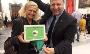 Paola Finetti ha ritirato il premio Bandiera Verde con una sentita cerimonia a Roma
