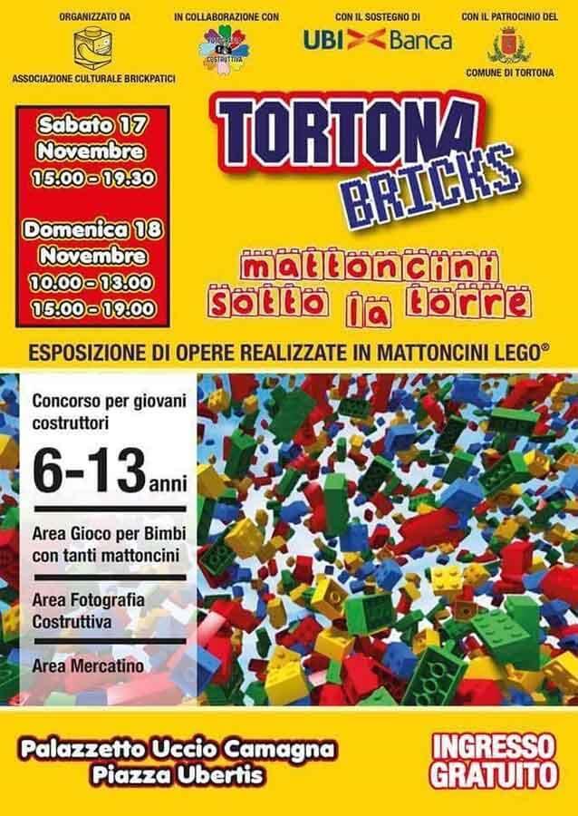 La mostra mercato di mattoncini lego a Tortona