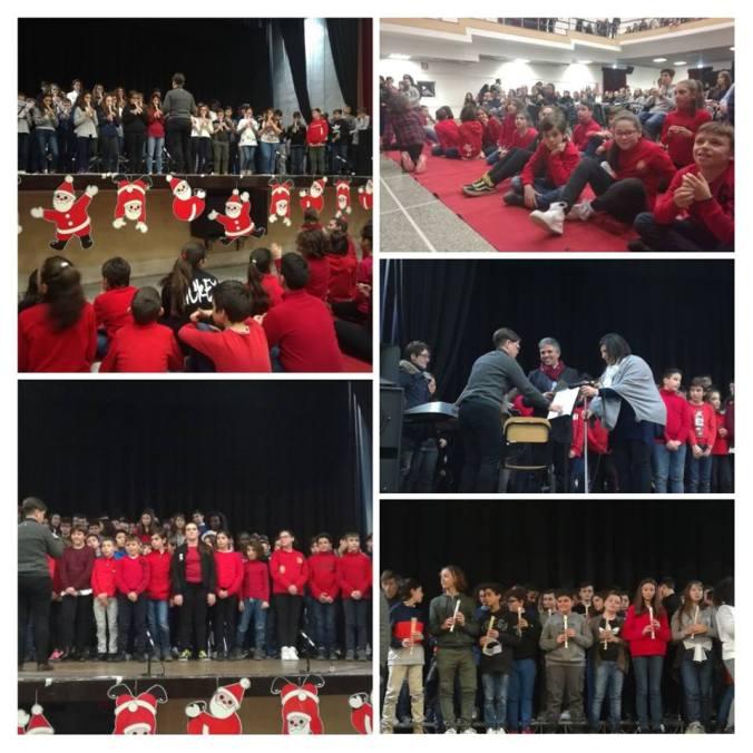 """Collage di foto: Natale in musica"""" IC VIguzzolo"""