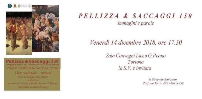 L'invito alla congferenza Pellizza e Saccaggi al Liceo Peano di Tortona