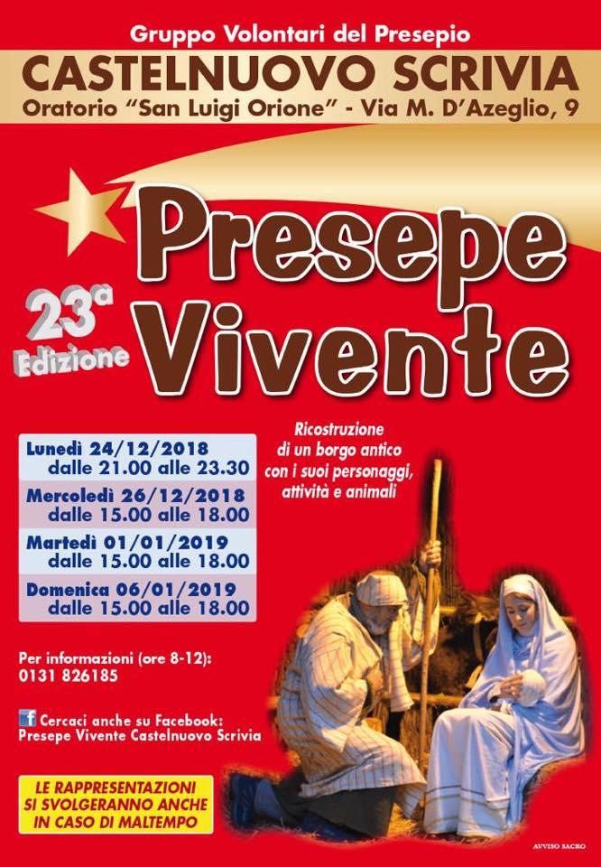 La locandina della 23^ edizione del Presepe vivente di Castelnuovo Scrivia