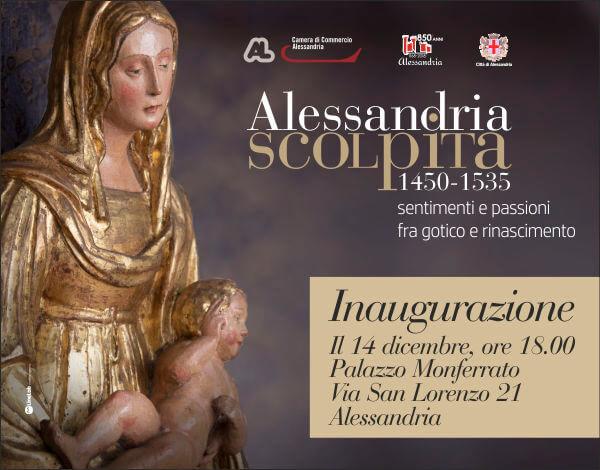 L'invito all'inaugurazione della mostra a Palazzo Monferrato
