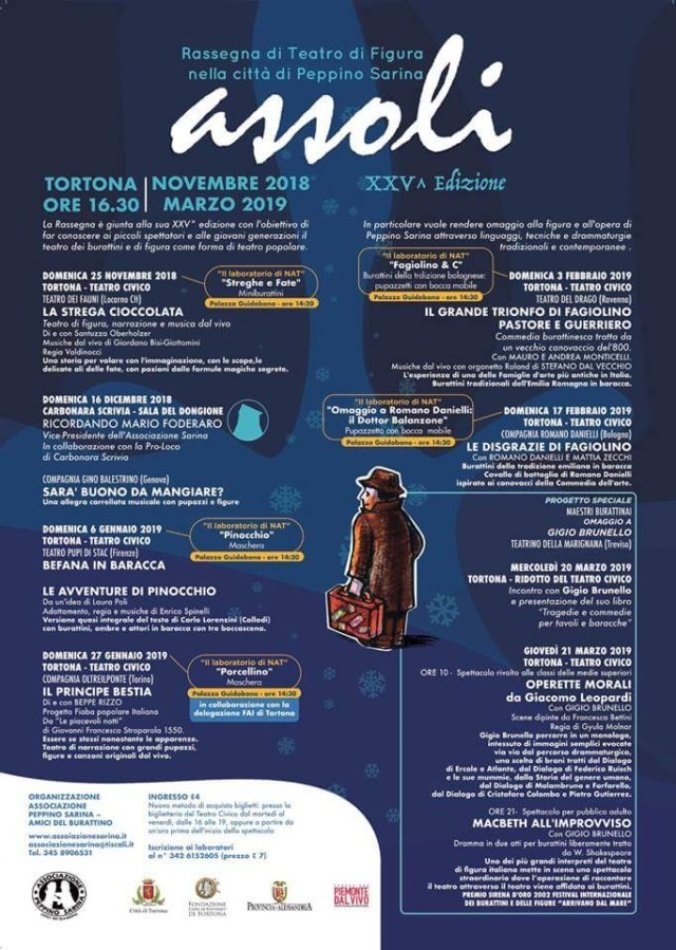 Il programma della 25^ edizione della Rassegna assoli