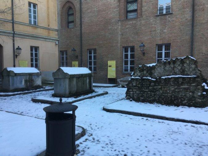 Cortile del Museo archeologico Tortona