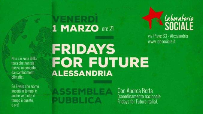 Il Laboratorio sociale di alessandria partecipa ai Fridays for Future