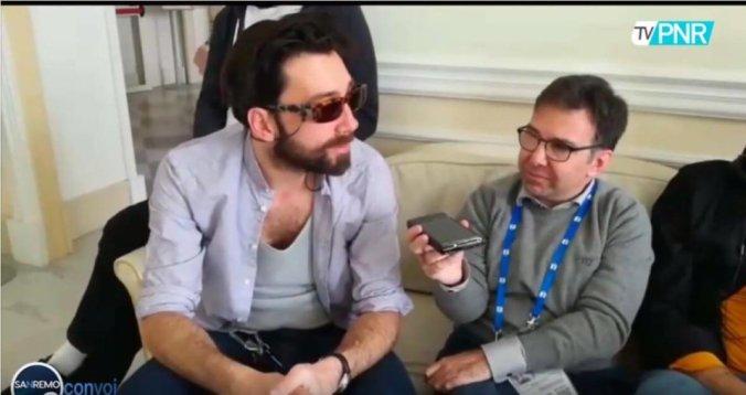 Stefano Brocchetti a Maurizio Carucci a Sanremo