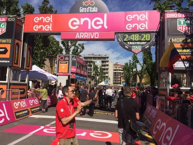 Tortona 2017, arrivo del Giro d'Italia