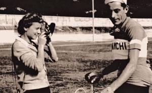 Lineaverde sui colli tortonesi, immagine storica di Fausto Coppi