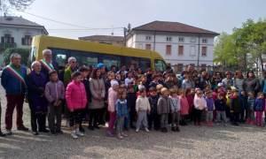 Inaugurato nuovo scuolabus a Sale