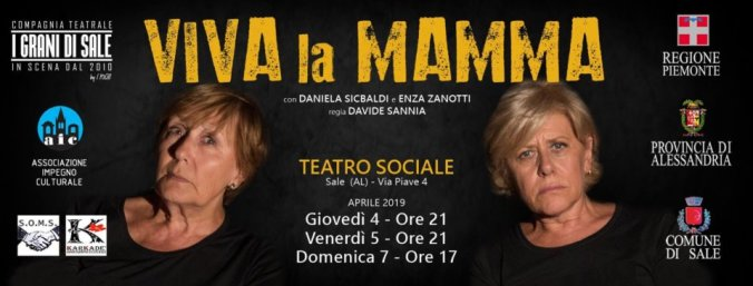 Locandina dello spettacolo de I Grani di Sale Viva la Mamma