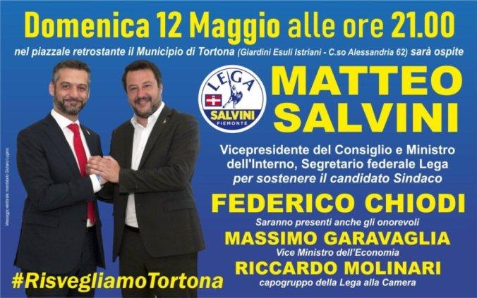 Matteo Salvini a Tortona