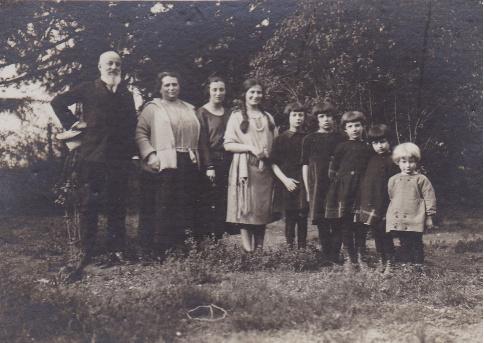 Luigi Coggiola e famiglia