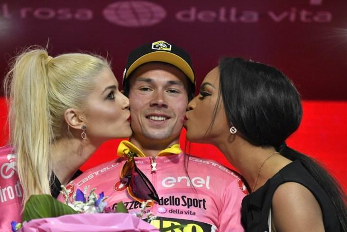 Primoz Roglic (Team Jumbo - Visma) in maglia Rosa