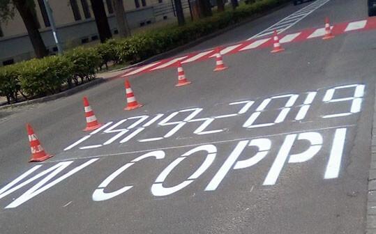 Scritta per la 13^ Tappa del Giro d'Italia n. 102