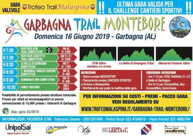 Locandina Garbagna Trail Montebore