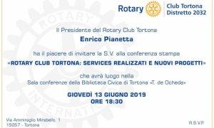 Conferenza stampa di presentazione dei nuovi progetti del Rotary Club di Tortona