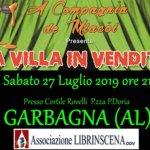 Una villa in vendita a Garbagna per la stagione teatrale di Librincena
