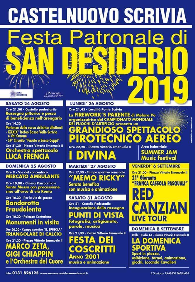 Calendario Festa Patronale di San Desiderio 2019