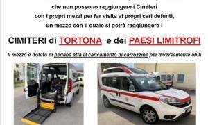 Come ogni anno la Croce Rossa di Tortona ha attivato il servizio navetta verso i Cimiteri