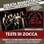 Teste di Zocca in concerto benefico per la scuola primaria di Sarezzano