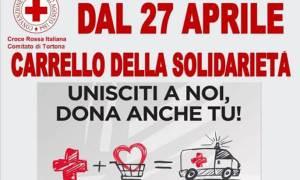 Da lunedì 27 aprile riparte il carrello della solidarietà della CRI di Tortona