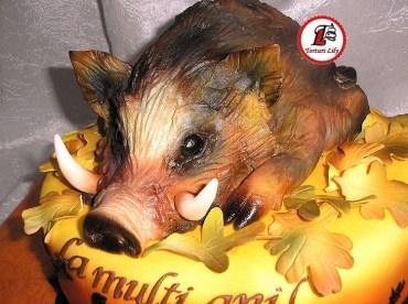 tort mistret vanatoare_cake wild hog hunting 4