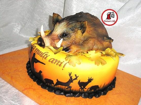 tort mistret vanatoare_cake wild hog hunting3