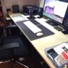 机の上を常にクリアーな状態に!!ダイソーのトレイを使って仕事の効率アップ!