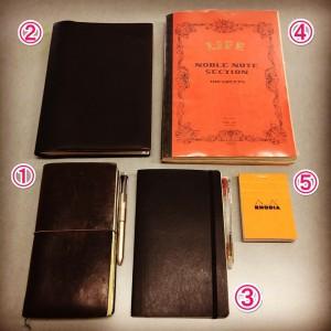 ★5冊の手帳等