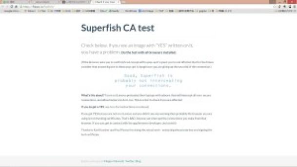 Lenovo Superfishのチェック