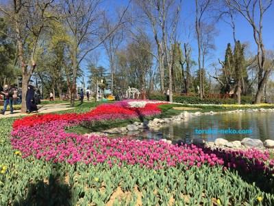 トルコのエミルギャンパーク EMİRGÂN PARKI チューリップ園