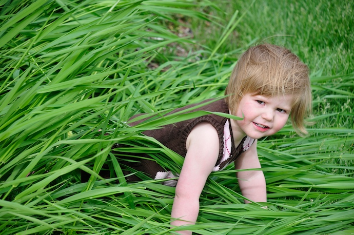 Sophia plays in the grass. Click above for more pics.