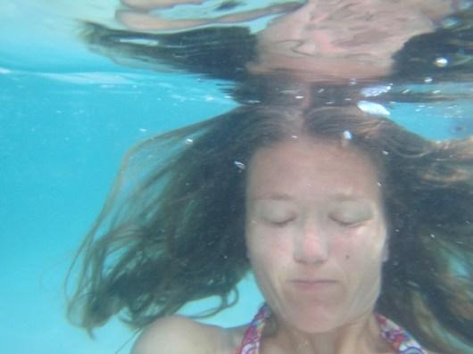Kari underwater.