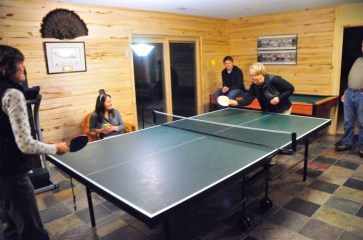 All family ping pong tournament.