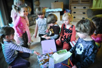 Present opening frenzy