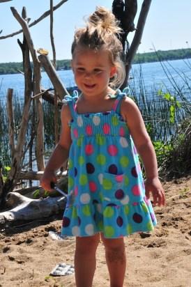 Tegan on the shore of Battle Lake