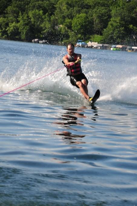 Bryan trying to ski