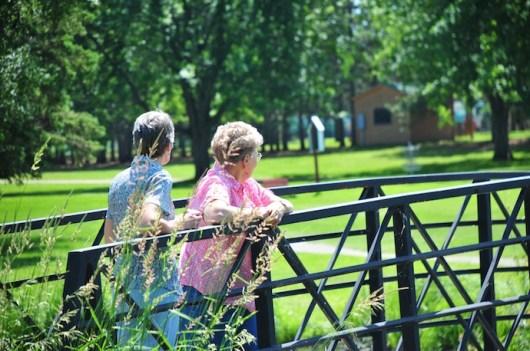 With aunt Muriel in Wadena Minnesota