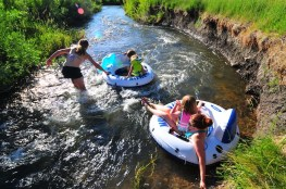 Tubing the creek