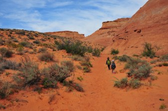 Slogging into the desert. Entrance to Lucky Charms