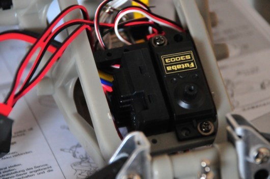 Servos in place.