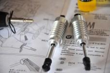 Oil dampened shocks assembled.