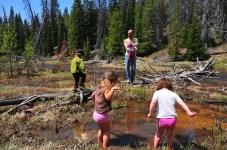 Josh and I take the kids while the ladies take a longer hike.
