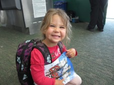 Tegan is excited she made it through with the magazine.