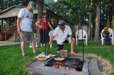Campfire fish fry.