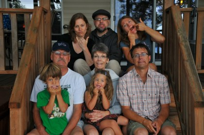 Family goof shot.